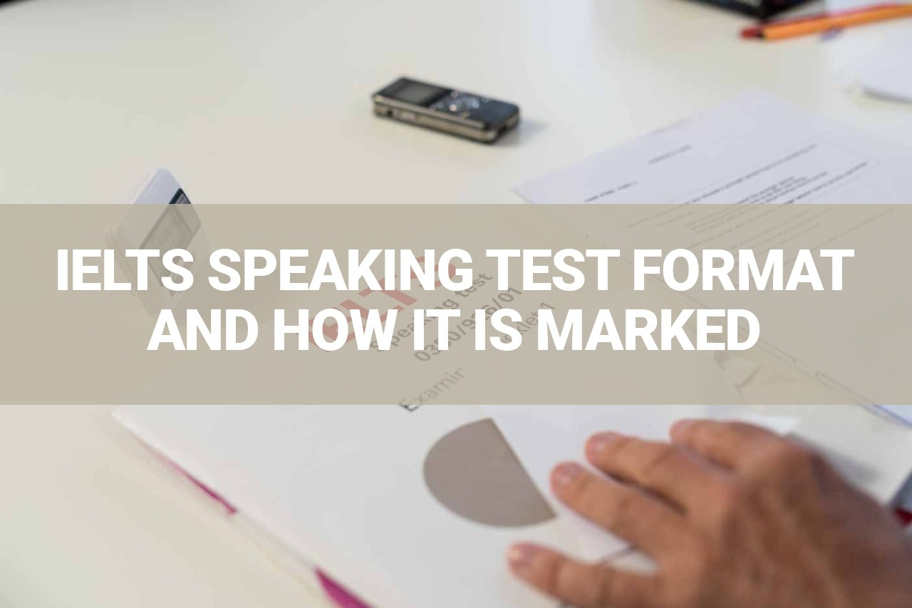 IELTS Speaking Test Format and How it is Marked